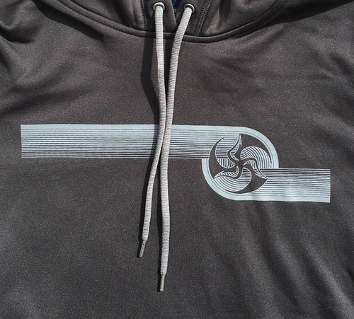 Huk Lab Womens Hypno Performance Pullover Hoodie front graphic
