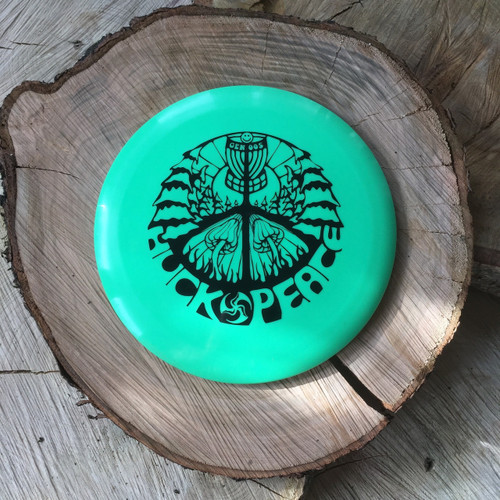 Innova Echo Star Wraith with a black Huk Lab GEN 005 Stamp