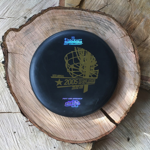 Discraft Elite X Soft Challenger black with a gold 2005 TXDGC stamp