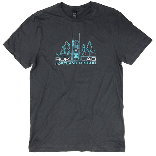 Huk Lab Pro Shop Tee Dark Grey