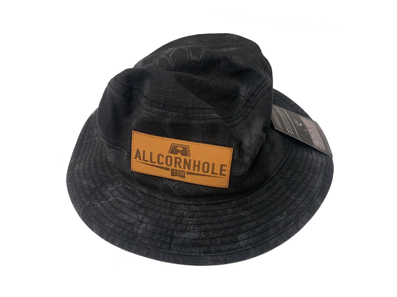 6eff3a1b2a3da AllCornhole Black Design Bucket Hat - Free Shipping - AllCornhole.com