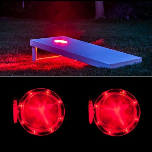 Red Cornhole Lantern - Set of 2 - Cornhole lights