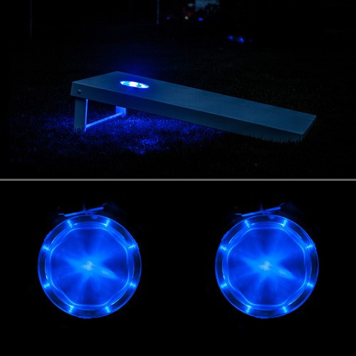 Blue Cornhole Lantern - Set of 2 - Cornhole lights