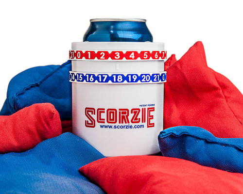 Scorzie - Perfect Beverage Holder and Cornhole Score Keeper in One!