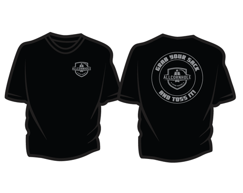 Black Cotton T-shirts - Grab Your Sack and Toss It!