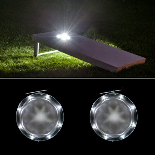 White Cornhole Lantern - Set of 2 - Cornhole lights