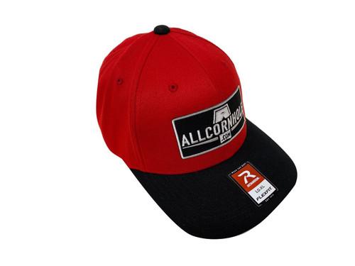 AllCornhole FlexFit Hat Red/Black - Free Shipping