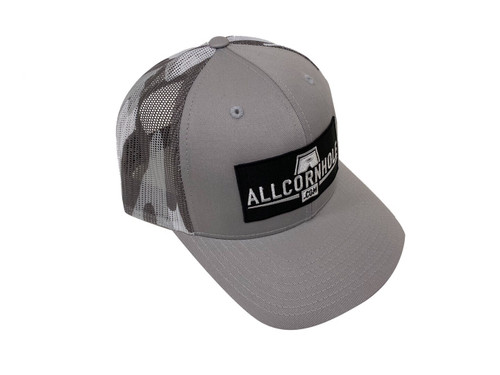 AllCornhole Curved Bill Gray Camo Snapback Hat with patch - Free Shipping