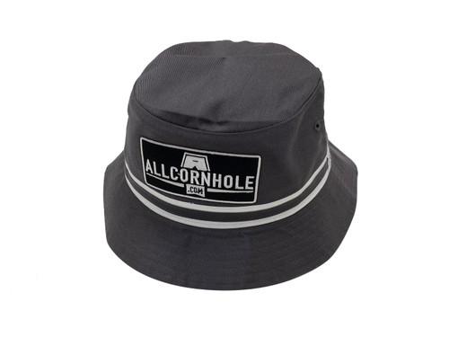 AllCornhole Charcoal Bucket Hat - Free Shipping