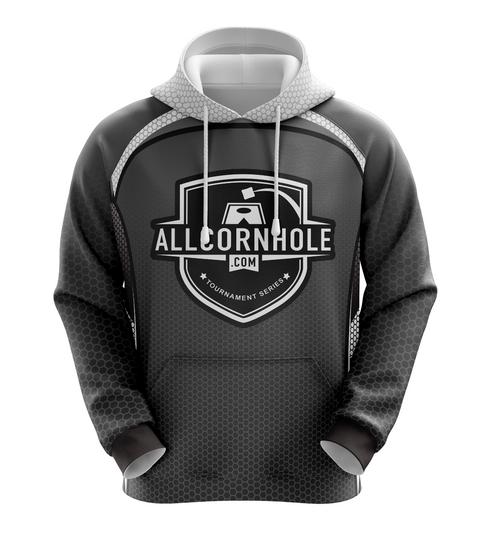 Gray AllCornhole.com Hoodie