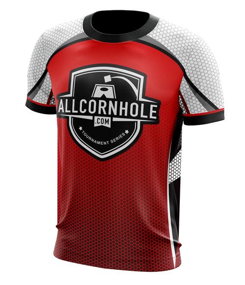 Red Customized AllCornhole Jersey