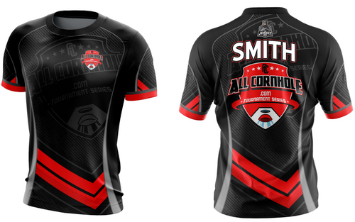 2020 NEW Black Customized AllCornhole Jersey