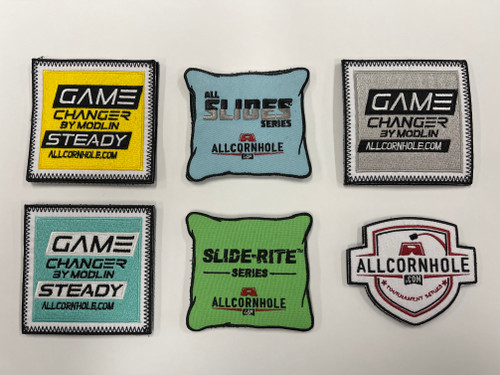 NEW VERSIONS! AllCornhole Velcro Patches - FREE SHIPPING