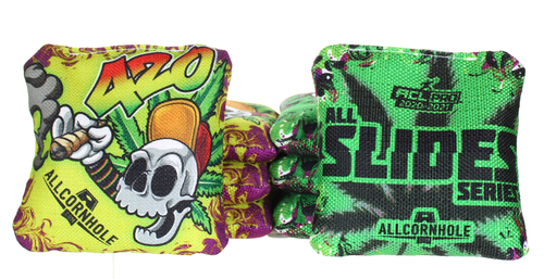 Limited Edition 420 Skull All-Slide Cornhole Bags