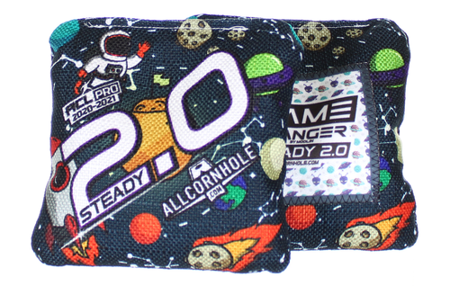 Out of This World Space Design Steady 2.0 cornhole bags - SET OF 8