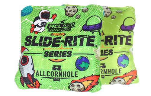 Out of This World Space Design Slide-Rite cornhole bags - SET OF 8