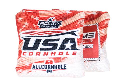 USA Cornhole Flag Design GameChanger STEADY 2.0 Cornhole Bags SET OF 8