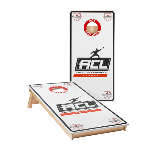 WHITE Official ACL PRO Cornhole Boards - BROADCAST VERSION
