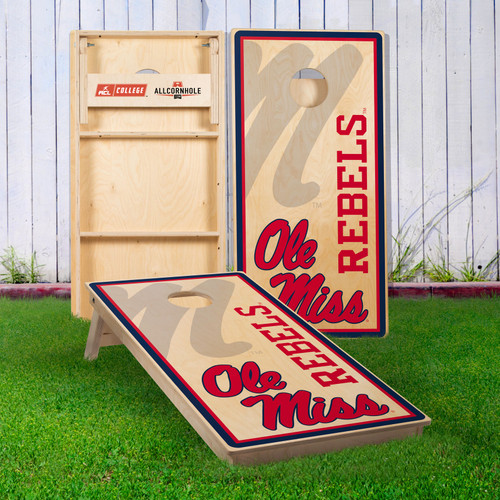 Officially Licensed Collegiate Cornhole Boards - University of Mississippi