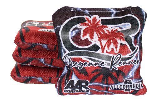 Cheyenne Renner All-Slides cornhole bags - SET OF 8 - Red-Yellow