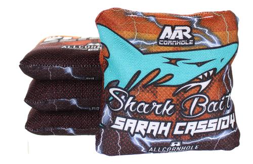 Sarah Cassidy All-Slides cornhole bags - SET OF 8 - Sharkbait Design