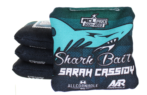 Sarah Cassidy GameChanger cornhole bags - SET OF 8 - Sharkbait Design