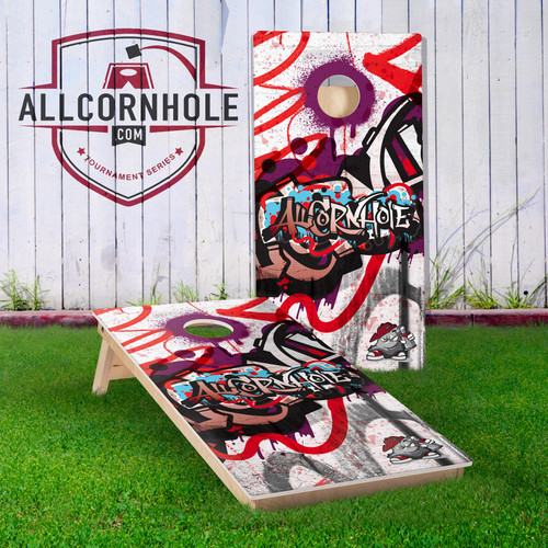 Graffiti Design Cornhole Boards - PURPLE