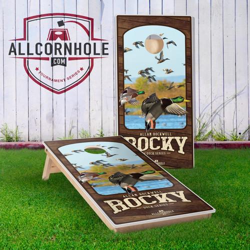 """Allan """"Rocky"""" Rockwell Cornhole Boards - Duck Edition"""