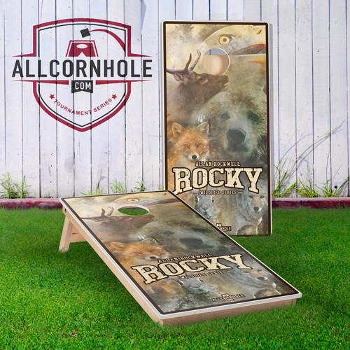 "Allan ""Rocky"" Rockwell Cornhole Boards - Wildlife Edition"
