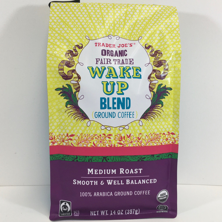 Trader Joe's Organic Fair Trade Wake Up Blend  Ground Coffee