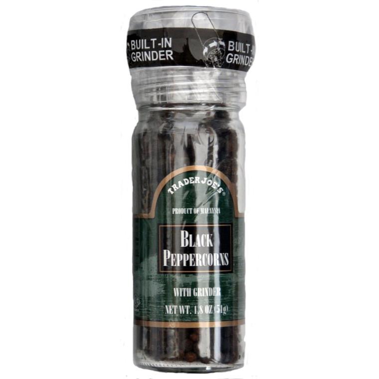 Trader Joe's Black Pepper Peppercorns with Grinder