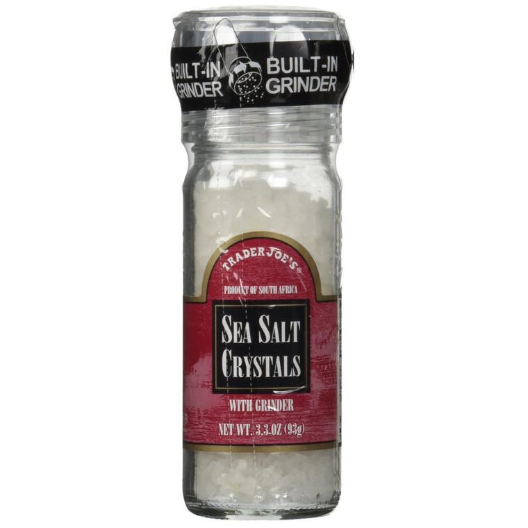 Trader Joe's Sea Salt Crystals with Grinder - 3.3 Oz.