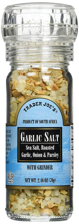Trader Joe's Garlic Salt with Grinder, 2.46 oz by N/A