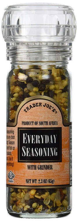 Trader Joe's Everyday Seasoning with Built in Grinder Use on Everything Every...