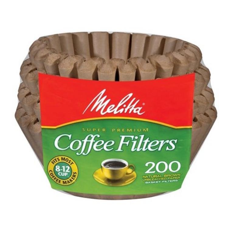 Melitta Super Premium Coffee Filters 200 ct Natural Brown