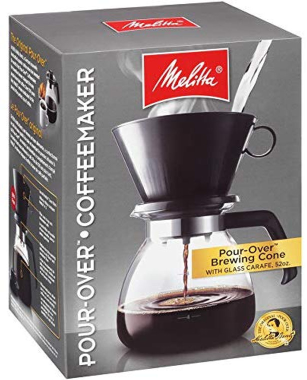 Melitta 10-Cup Pour Over Coffee Brewer w/ Glass Carafe