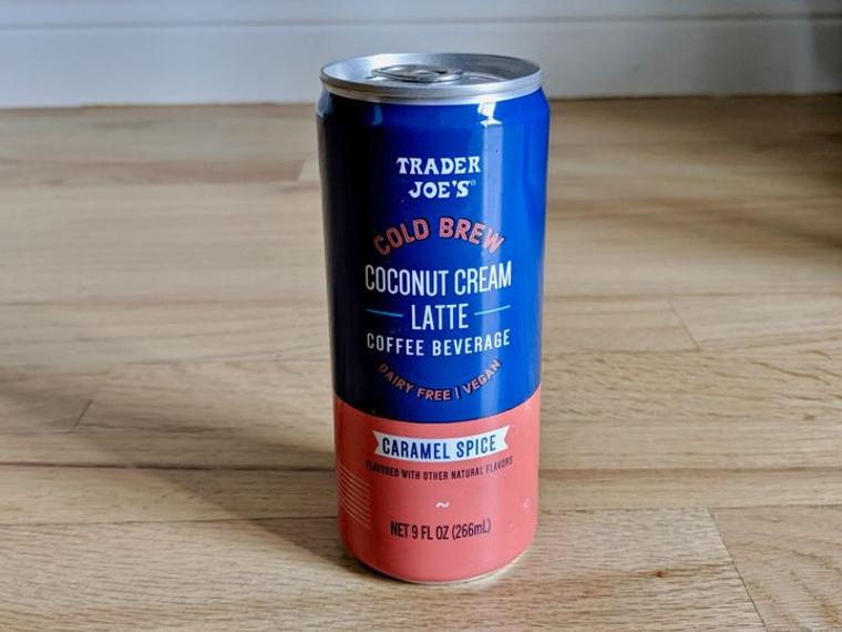 Trader Joe's Cold Brew Coconut Cream Latte Caramel Spice