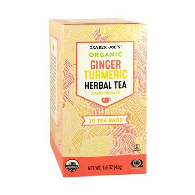 Trader Joes Organic Ginger Turmeric Herbal Tea 20 envelopes