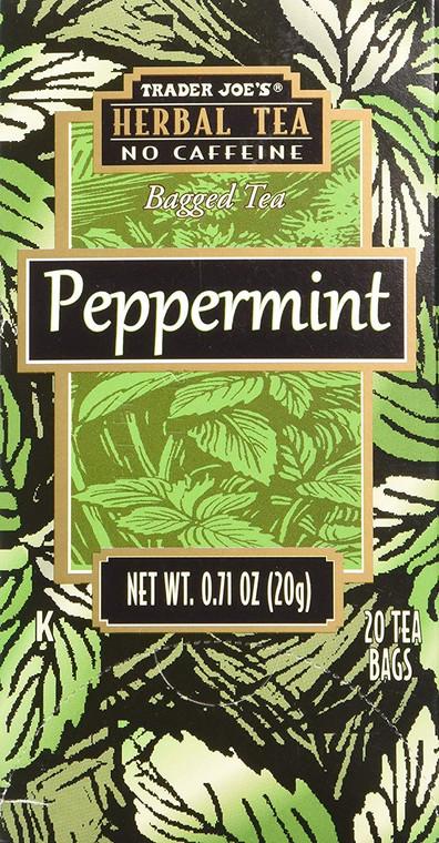 Trader Joe's Herbal No Caffeine Peppermint Bag Tea
