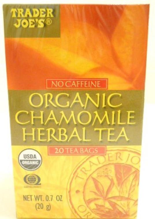 Trader Joe's No Caffeine Organic Chamomile Herbal Tea 20 Tea Bags