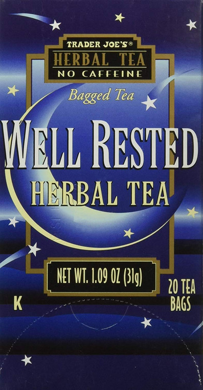 Trader Joe's Herbal Tea Well Rested