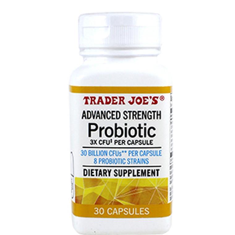 Trader Joe's Advanced Strength Probiotic 30 capsules (1 bottle )