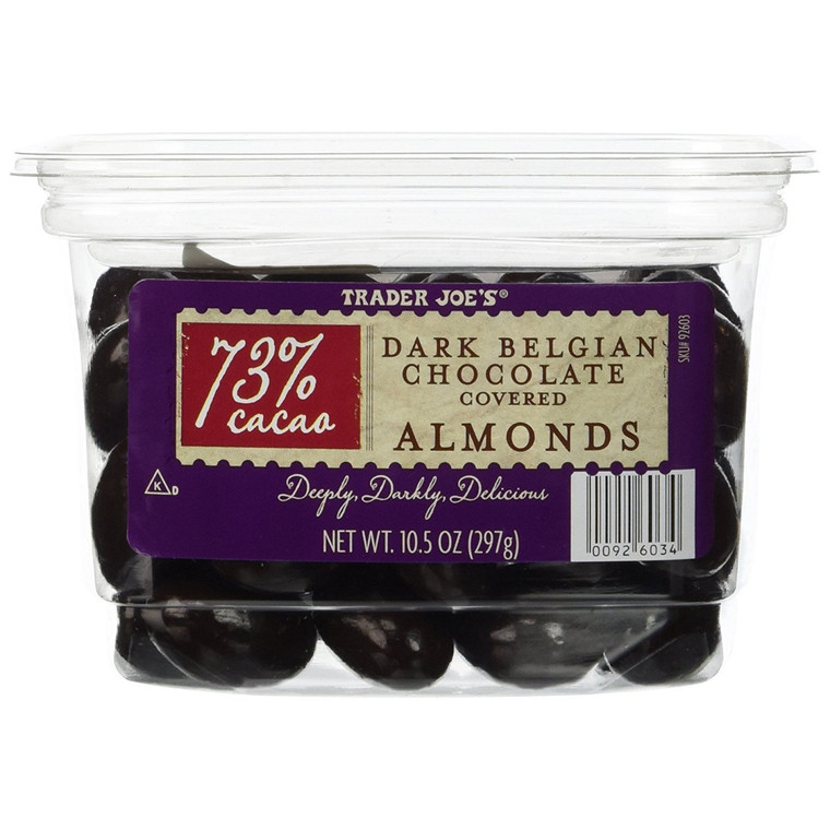 Trader Joe's 73% Cocao Dark Belgian Chocolate Covered Almonds