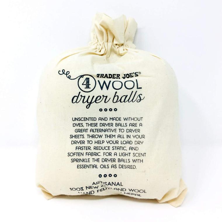 Trader Joe's 4 Wool Dryer Balls