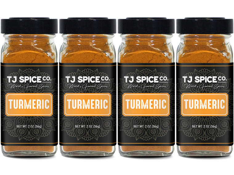 TJ Spices Ground Turmeric (4 Pack)