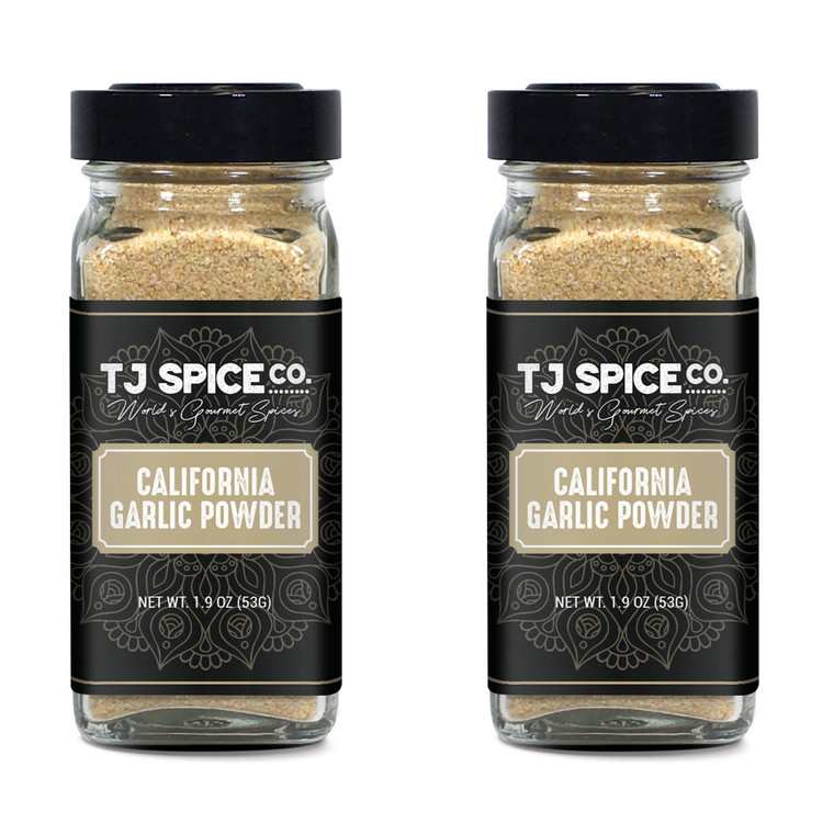 TJ Spice Company Californian Granulated Garlic Powder, 3.8 Ounces, Premium Californian Granulated Garlic  Salt Free, 100% Natural , Freshly Packed, Non-GMO, Gluten Free, No Preservatives (2 Pack)