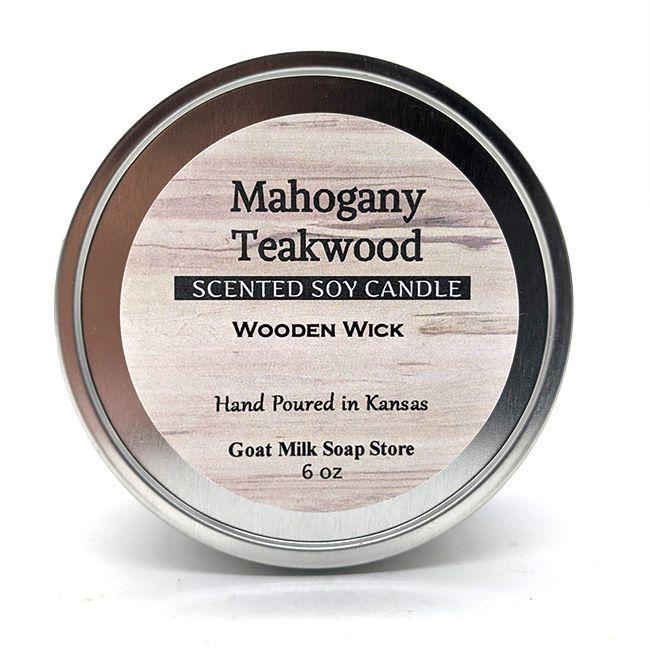 Mahogany Teakwood Wooden Wick Candle