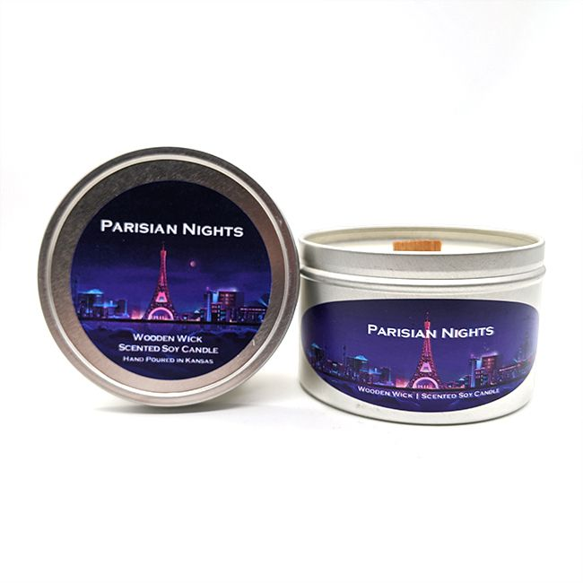 Parisian Nights Wooden Wick Candle