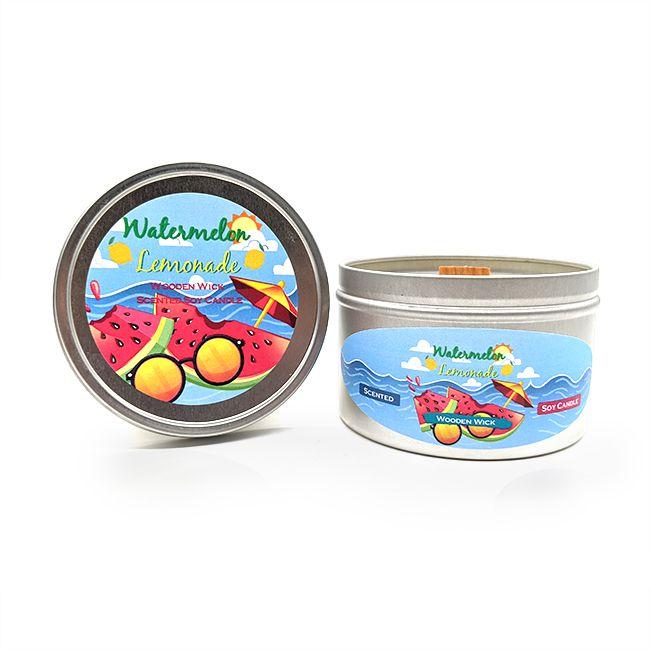 Watermelon Lemonade Wooden Wick Soy Candle