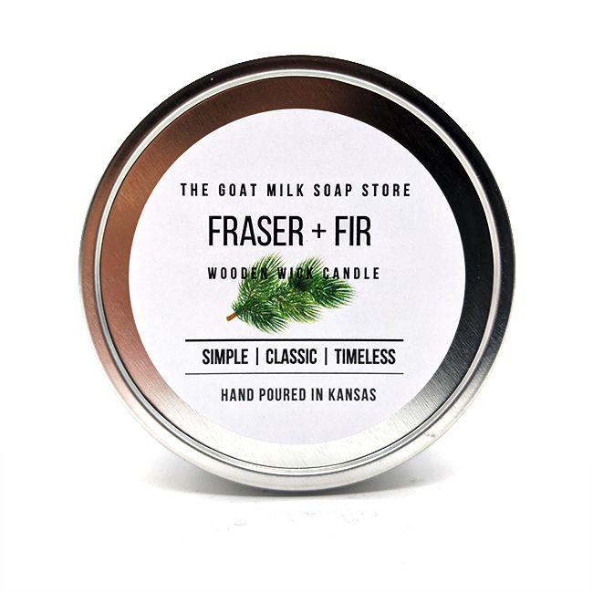 Fraser Fir Wooden Wick Candle